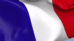 France Waving Flag Background Loop - stock footage