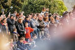 Crowd admiring and photographing event - stock photo