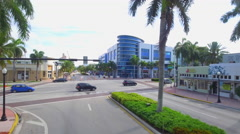 Aerial video of Ciclovia Miami Beach Stock Footage
