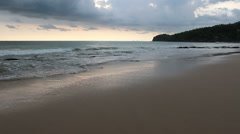 Beautiful sunset at andaman ocean. - stock footage