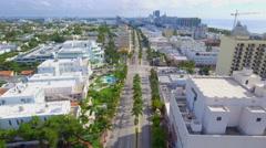 Aerial shot Ciclovia Miami Beach 4k Stock Footage