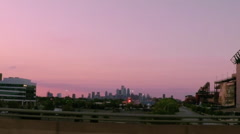 Philadelphia Sunset Driving 240fps Stock Footage