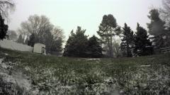 Backyard Snowfall Timelapse Stock Footage