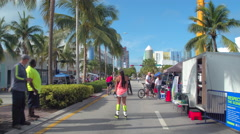 Bootcamps at Ciclovia Miami Beach 4k video Stock Footage