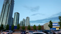 Motion of Walmart store building exterior. - stock footage