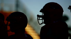 Football Player Silhouette - stock footage