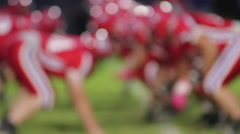 Football Play Defocused Slow Motion Stock Footage