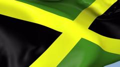 Jamaica Waving Flag Background Loop - stock footage