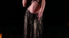 Belly dancer video shot - stock footage
