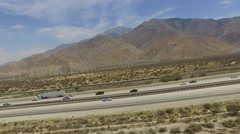 2.7K HD Palm Springs I-10 Freeway Stock Footage