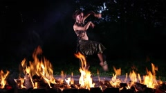 Dancing in Fire Stock Footage