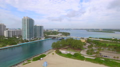 Bal Harbour inlet and Haulover Beach Stock Footage