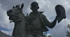 Statue of John Simpson Chisum in Roswell New Mexico.  Stock Footage