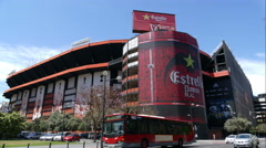 Valencia CF Football Stadium, Mestalla Stock Footage