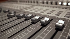 The sound studio - the faders - stock footage