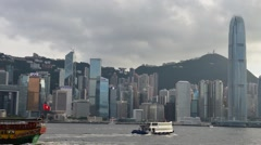 hong kong skyline timelapse - stock footage