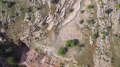 Banias - Grotto of God Pan; Ein Panias;Banias  Nature reserve bird-view Stock Footage
