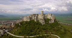 4K Aerial, Ancient Castle, Spissky Hrad in Slovakia Stock Footage