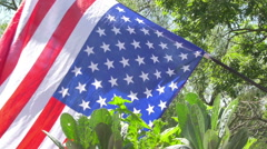 Upside down american flag distress 3 Stock Footage