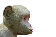 Concrete monkey sculpture. Stock Photos