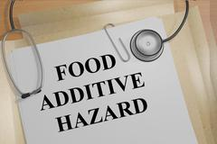Food Additive Hazard medical research concept Piirros