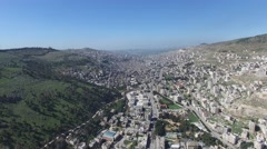 Shechem city overview_01 Stock Footage