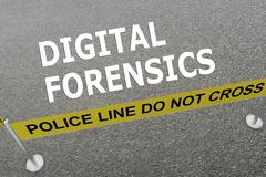 Digital Forensics concept Stock Illustration