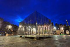 The Mirrored Pavillion in the Castle Gate for Visual Art and Design Festival Stock Photos