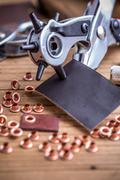 Plier and rivets Stock Photos