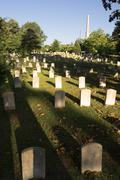 Oakland Cemetery Gravestones Landscape Atlanta Georgia Headstones Graves Kuvituskuvat