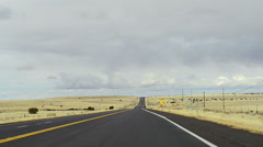 Perfectly smooth America highway across the endless desert Stock Footage