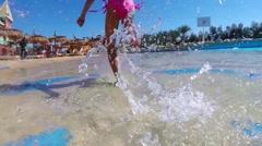 Child in Aqua park Stock Footage