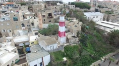 Jaffa - Port and lighthouse - stock footage