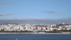 Lisbon, Bairro Comendador Joaquim Matias suburbs along Tagus River, Portugal Stock Footage