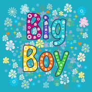 big boy. Greeting card. - stock illustration