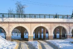 Part of the Alexander bridge across the river Orlik Stock Photos