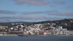 Lisbon, Cruz Quebrada suburb along Tagus River, Portugal Stock Footage