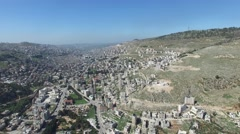 Shechem city overview_02 Stock Footage