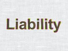 Insurance concept: Liability on fabric texture background Stock Illustration