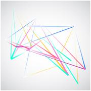 Colorful Lines shapes abstract isolated on white background vector Stock Illustration