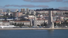 Lisbon, Discovery Monument, Portugal Stock Footage