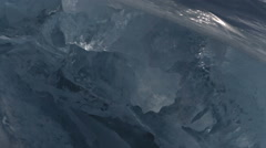 Huge blocks of ice Stock Footage