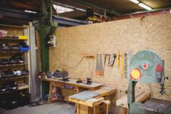 Photograph of a carpentry Stock Photos
