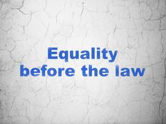 Political concept: Equality Before The Law on wall background - stock illustration