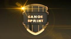 Canoe Sprint - Orange, Seamless looping 3D animation Stock Footage