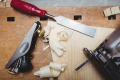 Close up of carpentry tools Stock Photos