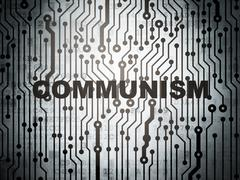 Political concept: circuit board with Communism Stock Illustration
