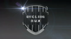 Cycling BMX - Chrome, Seamless looping 3D animation - stock footage