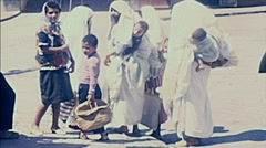 Morocco 1970: women in burka Stock Footage