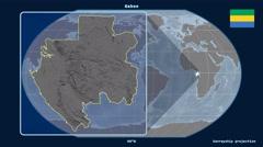 Gabon - 3D tube zoom (Kavrayskiy VII projection) Stock Footage